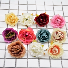10pcs Blooming Peony Cloth Artificial Flower For Wedding Party Home Room Decoration Marriage Shoes Hats Accessories Silk Flower(China)