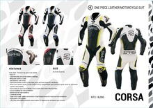 Taiwan SPRS leather clothing motorcycle road racing Jumpsuit riding fall leather suit, CORSA(China)