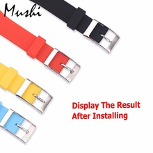 Watch Band Clasp Buckle for General Watch Watch Band Stainless Steel Strap Buckle 14/16/18/20mm/22mm/24mm Rubber Straps 3pcs