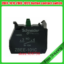 10pcs ZBEE-101C NO button contact switch / ZBEE-102C NC 22mm push button switch contacts XB5A series
