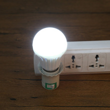 AC 85-265V High Brightness 2835 10pc LED E27 5W White LED Bulb Lamps Rechargeable Emergency Light NG4S