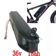 US EU No Tax Hailong tube Ebike Battery 36V 18Ah Lithium ion Sanyo 3500mah power cell Electric Bicycle Battery Pack