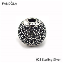 Essence Small Beads Fits Pandora Bracelet 100% 925 Sterling Silver Jewelry Wellness Original Fashion DIY Charms CKK(China)