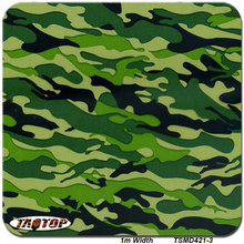1m 50Sq TSMD421-3 Camouflage Holographic Vinyl  Film Water Printing Water Transfer Printing Film