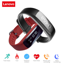 In Stock! Original Lenovo HW01 Bluetooth 4.2 Smart Wristband Heart Rate Moniter Pedometer Sports Fitness Tracker for Android iOS(China)