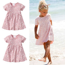 1-5Y Kids Baby Girls Cute Love Heart Princess Party Dress Girls Summer Dress New(China)