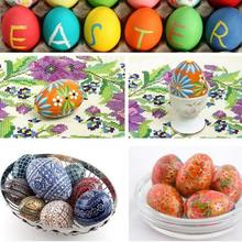 Easter Wooden Eggs Pretend Play Kitchen Food Cooking Children Kid Toy DIY painting for children presents