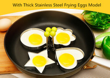 Kitchen 4 Kind Shaped Stainless Steel Cooking Fried Egg Pancake Ring Mold Shaper Cookie Sandwich Cooking Tools(China)