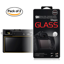 2x Self-Adhesive 0.3mm Glass LCD Screen Protector for Sony Alpha A6300 A6000 A5000 A3000 Digital Camera