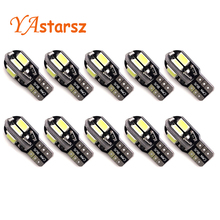 Super Bright!! 10 X T10 W5W T10 led canbus 194 168 5730 t10 8SMD Canbus NO ERROR 12V Car Auto Bulbs Indicator Light Parking Lam