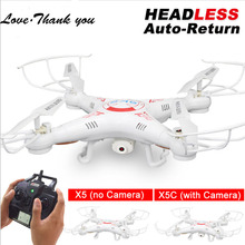 Drone With Camera X5C-1 or X5 without Camera Love Thank you RC Helicopter Headless Mode 2.4G 4CH 6-Axis Quadcopter Helicopter(China)