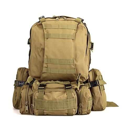 ELOS- Everyday carry EDC Nylon Backpack Khaki Military Camping Hiking Trekking<br>