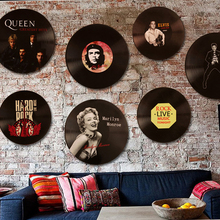Gushifu Vintage Retro Vinyl Signs Decoration Sign Wood Print Cafe Wall Personality Room Wall Decoration Bar
