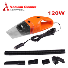 Car Vacuum Cleaner 120W Wet Dry Dual-Use Super Suction Car Use Portable Dust Hand Vacuum Cleaner 12 Volt Black Orange Blue(China)
