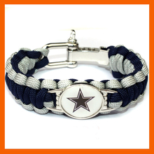DALLAS COWBOY SUPER BOWL SPORTS BRACELET ADJUSTABLE SURVIVAL BRACELET FOOTBALL BRACELET DROP SHIPPING! 6PCS/LOT!(China)