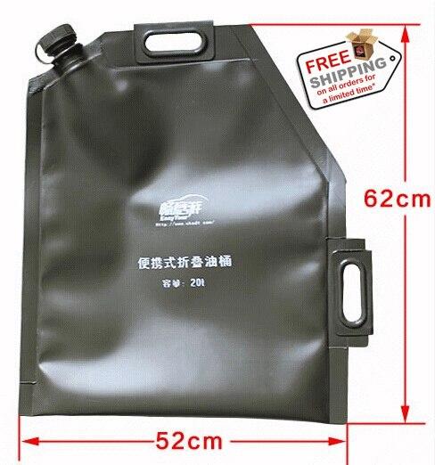 20l Portable Petrol Bag Foldable Fuel Can Gasoline...
