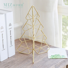 Miz Creative Metal Hollow Towl Golden Christmas Tree Decorative Ornament Desktop Accessory for Home Decoration