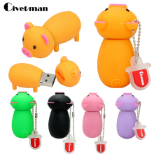 Lanyard Pen Prive Cartoon Pink Pig 4gb/8gb/16gb/32gb Pet Pig Usb Flash Drive Flash Memory Stick 64gb Gift