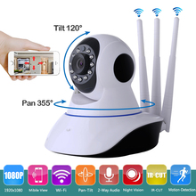 2MP Wireless Three Antenna Security P2P Camera HD 1080P Wifi IP Camera Baby Monitor with Pan Tilt Zoom 2-Way Audio Night Vision(China)