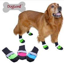Anti-wear All Weather Protective Booties Shoes for Pets Dog Cat Dog Boots For Pets Dog Supplies 5 Sizes(XS-XL)