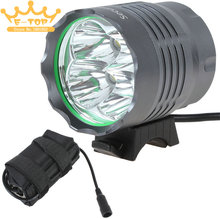 The Lamp Head of the 6000 Lumens 4 x XM-L T6 LED Headlamp + Battery Pack(China)