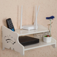 TV Set-top routers wooden shelf diy Carved  HDF STB Remote Control holder  storage box holder rack organizer home decor