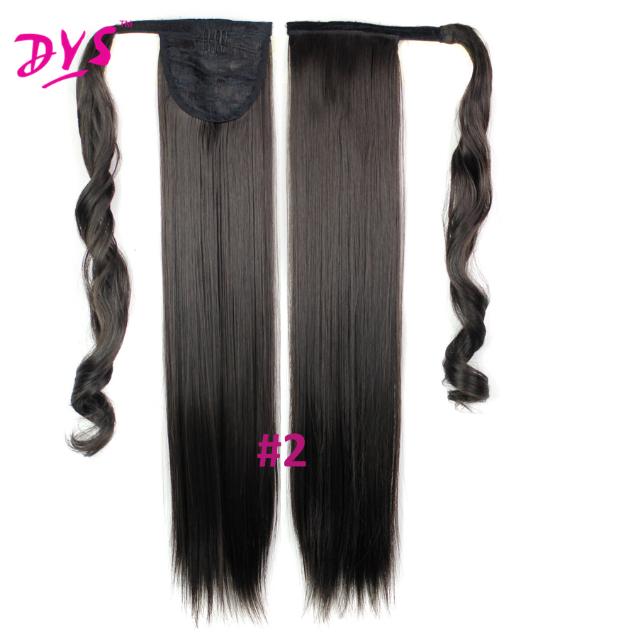 Deyngs 60cm Long Straight Clip In Hair Tail False Hair Ponytail Hairpiece With Hairpins Synthetic Hair Pony Tail Hair Extensions (10)