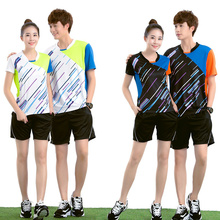 No logos Badminton Team Jersey Male/Female , sports clothes ,Table Tennis Uniforms , Design for your own Personalise logos 5050#(China)