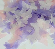 Handmade 2400  Lilac Pink Cream Tissue Butterfly Wedding Confetti marriage Celebration guests Decoration