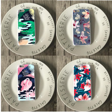 Fashion Colorful Flower Plants Leaves Case Cute Cartoon crocodile Leaf Back Cover Phone Cases For iphone 5 5S SE 7 6 6S Plus(China)