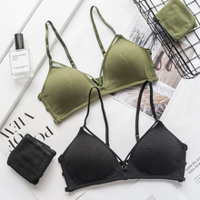 Buy Roseheart 2018 New Women Fashion Green Sexy Lingerie Sets Wireless Trim Bras Straps Cotton Panties Hole Bra Sets Women Underwear