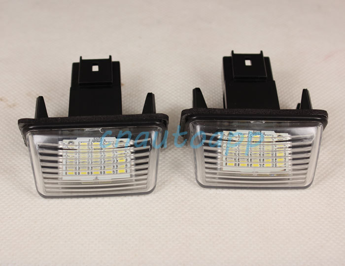 LIcense Plate Lamps LED Custom License Plate Lights For Peugeot 206 207 306 307 406 407 308 5008 /Citroen C3 C4 C5 C6 (one pair)<br><br>Aliexpress