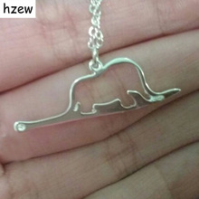 hzew animal cute Little Prince necklaces jewelry Elephant a snake Charm pendant necklace(China)