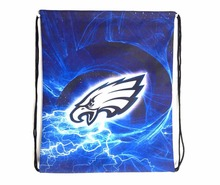 Philadelphia Eagles Drawstring Bags Men Backpack Digital Printing Pouch Customize Bags 35*45cm Sports Fan Flag(China)