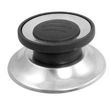 AIMA Stainless Steel Pot Cover Cap Black+Silver(China)