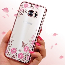 Plating Diamonds Soft Case Cover For Samsung Galaxy S3 S4 S5 S6 S7 edge S8 Plus A3 A5 A7 J3 J5 J7 J2 Prime 2016 2017 Grand Prime