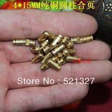 4 * 15MM cylindrical hinge Gift supporting wooden hinge  cylindrical copper hinge