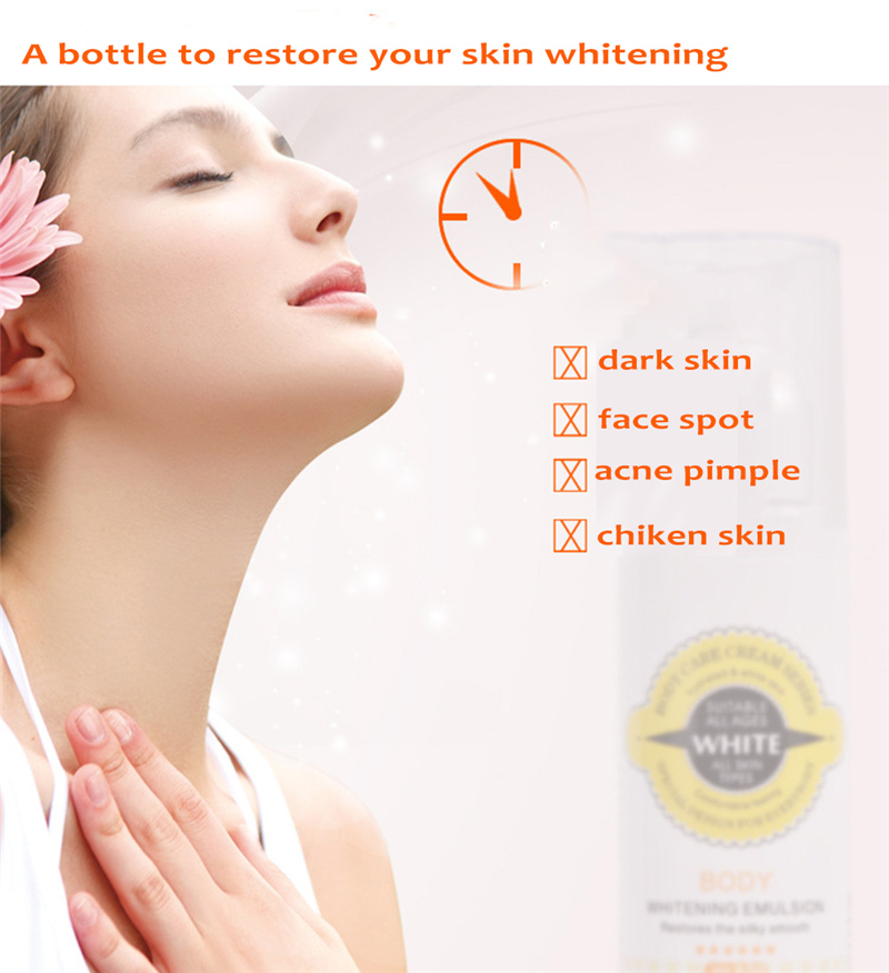 PIBAMY Instantly Whole Body Whitening Cream Moisturizer Skin Whitening Body Lotion Bleaching Cream for Neck Knee Dark Skin 150ML 10