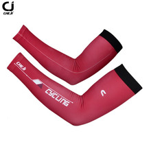 CHEJI Summer Red UV Bike Armwarmers Mountain Road Arm Sleeves Cover Bicycle Cycling Arm Warmers for Men And Women