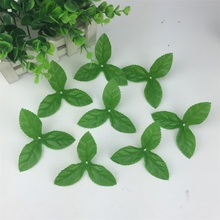 Cheap 150pcs Artificial Flower green Leaves plants For Wedding Decoration Garland Rose Leaf Foliage Decorative Craft Flowers