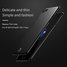 Baseus Luxury mobile phone bag case For iPhone 8 7 dirt-resistant Ultra Thin hard plastic back case Cover for iPhone 8 plus(China)