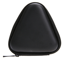 Finger Spiner Toys Bag Leather Flip Type Fingertip Gyro Triangle Box Earphone EVA Storage Box
