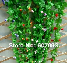 Artificial magnolia silk ivy,simulation fabric flower vine, home store garden decoration rattan, 50pcs/lot,Express free shipping(China)