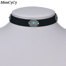 MissCyCy 2016 New Brown Leather Rope Necklaces Goth Fashion Design Collar Chokers Necklace For Women Wholesale Bijoux