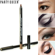 Waterproof Gel Eyeliner Pencil Easy Make up for Beginner Party Queen Eye Line Pen Permanent Brown Black Mineral Makeup No Smudge