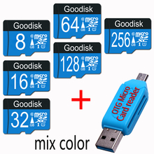 100% capacity Goodisk 128GB Micro SD Card 64GB 16GB class 10 memory card micro sd 32GB microsd tf card 64 gb+ GIFT card reader(China)