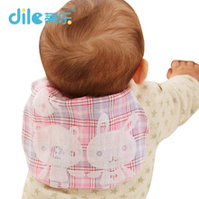 Dile baby solid color sweatbands breathable animal kid suit cotton child bibs 0-3years animal baby Scapegoat towel(China)