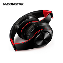 Stereo Foldable Headphones Headphones for girls with HD Mic Portable Wireless Earphones for xiaomi mp3 Support SD card(China)