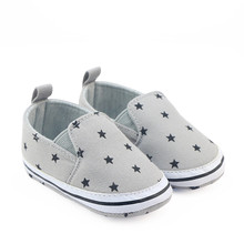 Newborn Infant Toddler Baby Boys Girls Loafers Shoes Crib Bebe Footwear First Walker Star Print Soft Sole Handsome Prewalkers(China)