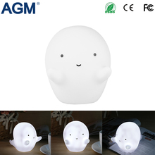 AGM White Cartoon Ghost LED Night Light Little Lovely Battery Powered Cute Wizard Nursery Lamp For Baby Toys Sleeping Light Room